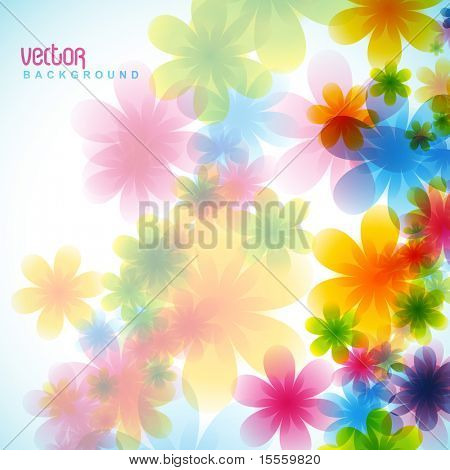 stylish colorful flower vector background