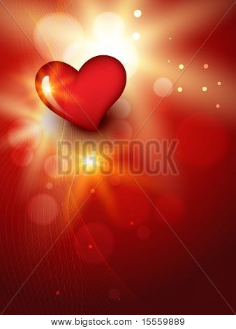 vector beautiful heart background design