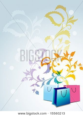 vector abstract shopping bag design art