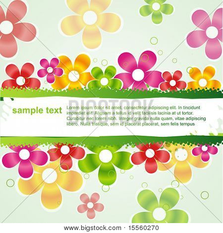 vector  stylish colorful flower background with space for your text