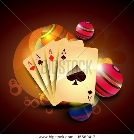 vector set of playing casino cards