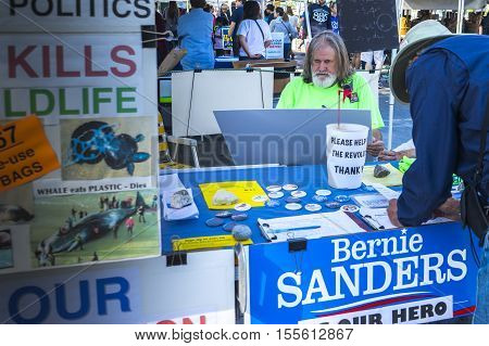 Torrance CA: NOV 6 2016 - A local farmers market on the Saturday before U.S.Election