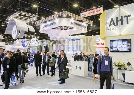 St. Petersburg, Russia - 4 October, Visitors to the gas forum, 4 October, 2016. Petersburg Gas Forum which takes place in Expoforum.