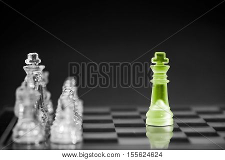 Chess business success leadership concept. high resolution image.