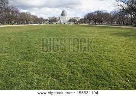 Washington DC USA - January 10 2016: The United States Capitol