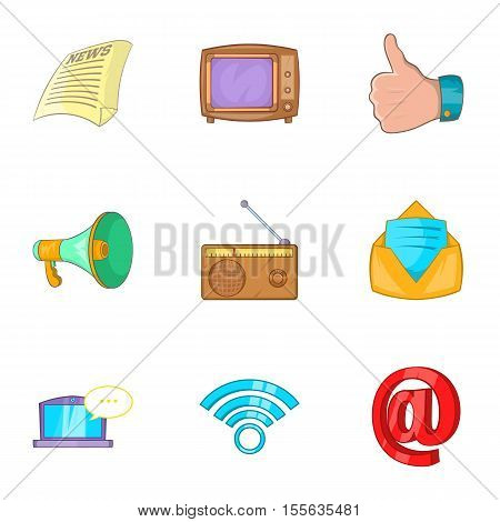 News icons set. Cartoon illustration of 9 news vector icons for web
