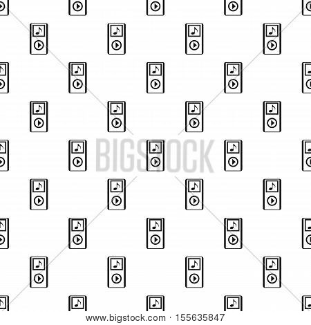 Mp3 player pattern. Simple illustration of mp3 player vector pattern for web