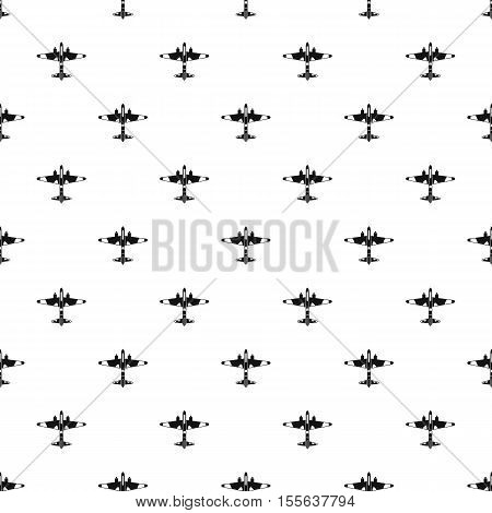Military fighter aircraft pattern. Simple illustration of military fighter aircraft vector pattern for web