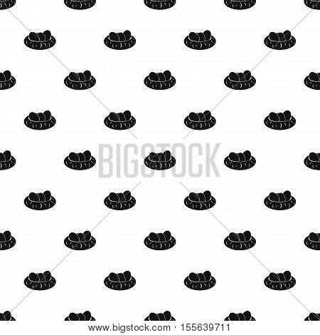 Bird nest and eggs pattern. Simple illustration of bird nest and eggs vector pattern for web