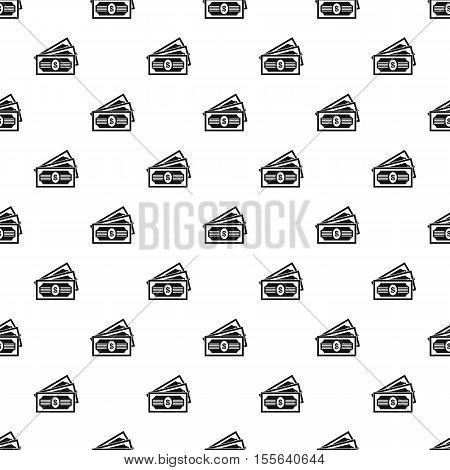 Dollar banknotes pattern. Simple illustration of dollar banknotes vector pattern for web