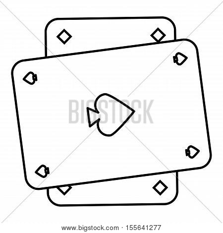 Playing card icon. Outline illustration of playing card vector icon for web design