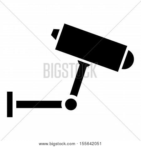 Surveillance camera icon. Simple illustration of surveillance camera vector icon for web design
