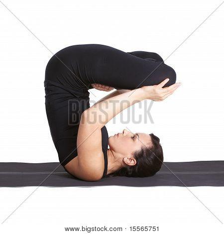 Yoga Excercising Urdhva Padmasana