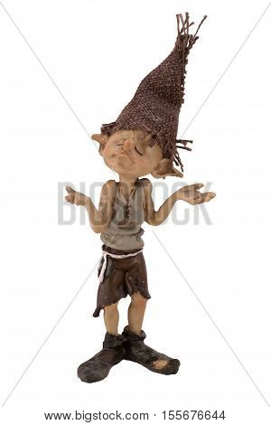 The image of the boy Troll on a white background closeup