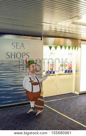 St.peterburg , Russia - October 24 :internal Rooms Of The Ferry Princess Maria , October 24 2016.