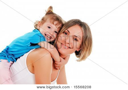 young mother and her young daughter spent time together