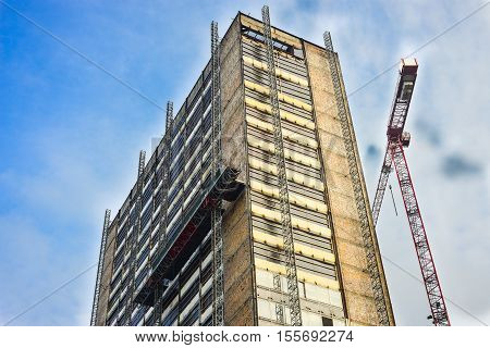 Building Under Reconstruction. Saved from demolition and destruction