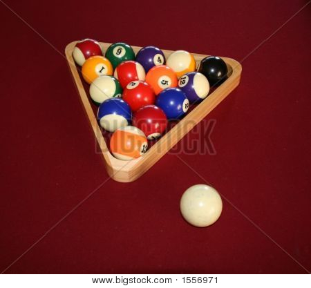 Pool Balls Ready To Be Played
