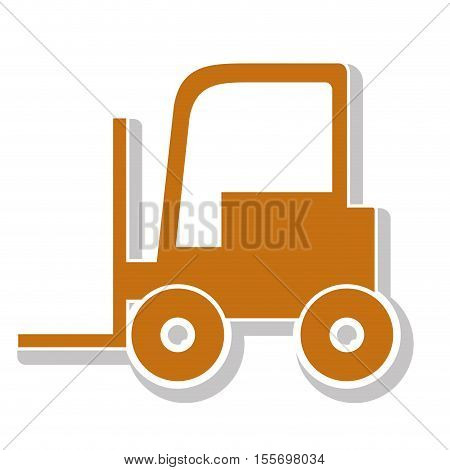 lift truck over white background. under construction machinary design. vector illustration