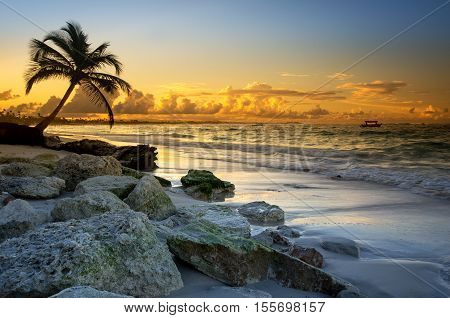 Punta Cana beach, sunset - Dominican Republic Caribbean