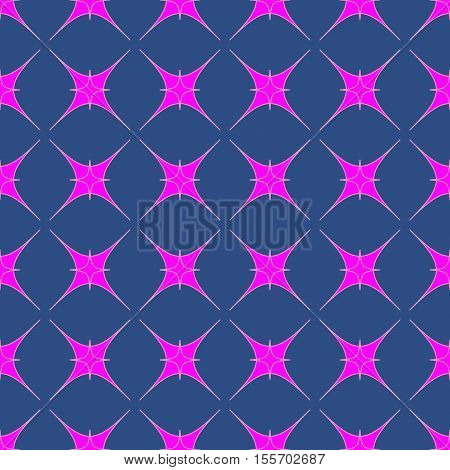 Star geometric seamless pattern. Fashion graphic background design. Modern stylish abstract texture. Colorful template for prints textiles wrapping wallpaper website. Stock VECTOR illustration