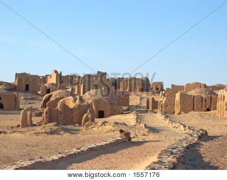 Bagawat Egyptian Necropolis, Oasis Of Kharga, Lybian Desert, Egypt
