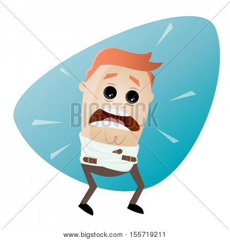 clipart of a man in straightjacket