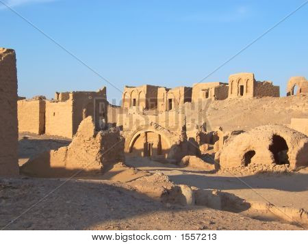 Detail Of The Bagawat Egyptian Necropolis, Oasis Of Kharga, Lybian Desert, Egypt