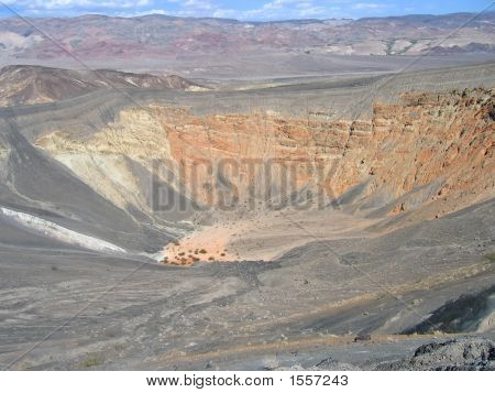 Large And Deep Hole On The Ground, Ubehebe Crater, Deat Valley National Park, United States