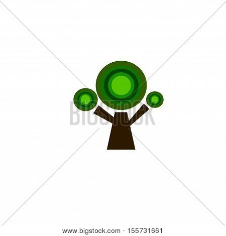 tree vector green design on white background