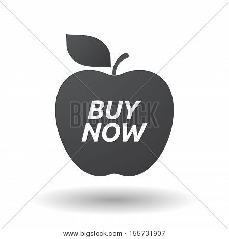 Isolated Apple Fruit With    The Text Buy Now
