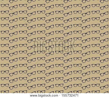 Glasses retro seamless pattern. Vintage background with glasses. Glasses seamless texture. Vector illustration
