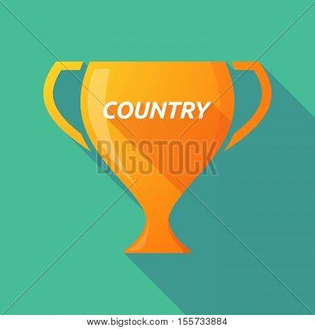 Long Shadow Award Cup With    The Text Country