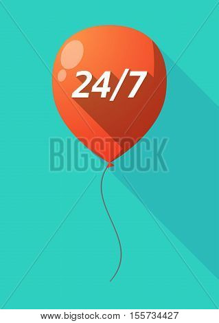 Long Shadow Balloon With    The Text 24/7
