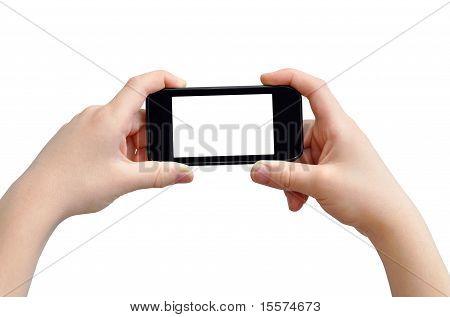 Manos con smart phone