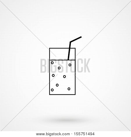 Soft Drink Icon Vector Flat
