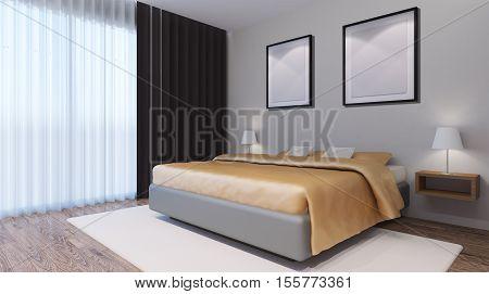 Bridal Suite. Bedroom. 3D Interior Rendering.