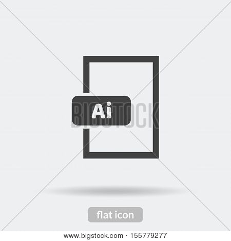Ai format icon Vector is type EPS10.