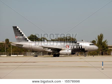Spirit Airlines Jet Departing