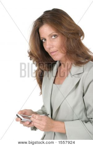 Business Woman Using Pda 4