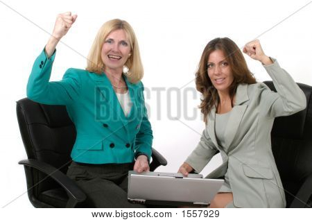 Two Business Women Working On Laptop 10