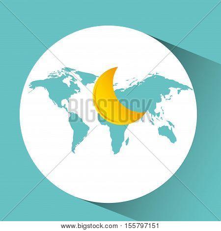 weather concept forecast half moon icon design vector illustration eps 10