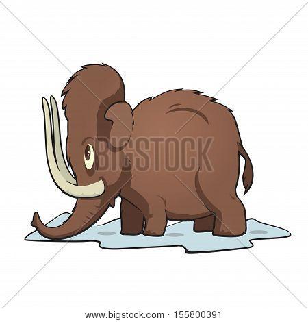 funny cartoon prehistoric animals mammoth mammal vector