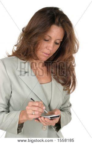 Business Woman Using Pda 1