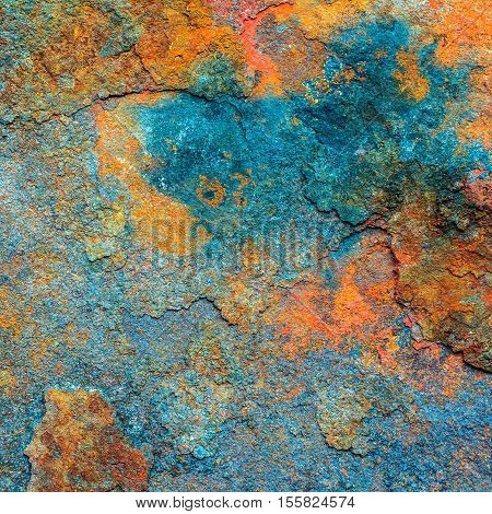 Rusty metal texture or rusty metal background. Grunge retro vintage of rusty metal plate. Abstract rusty metal for design with copy space for text or image.