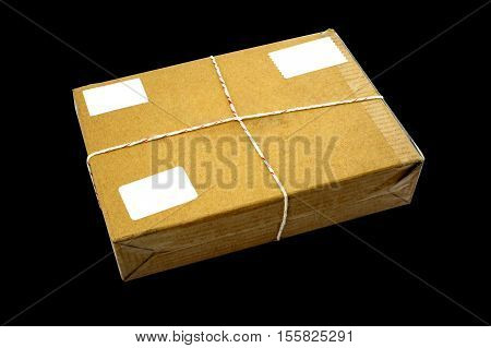 Closed cardboard Box or brown paper package box