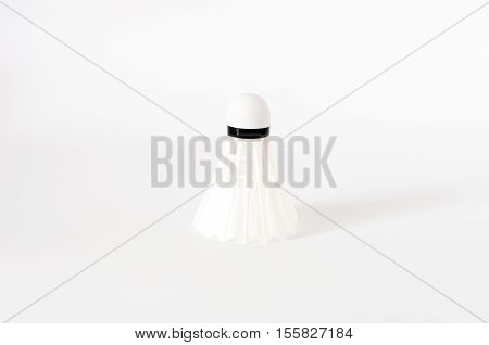 The White Badminton Shuttlecock Isolated On White Background