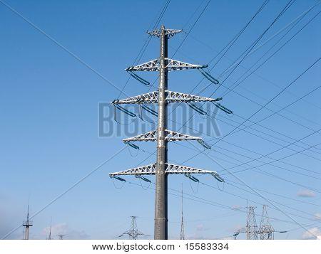 high-voltage power line prop
