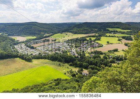 Rur Valley Camping Site Hetzingen In The Eifel, Germany