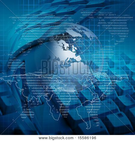 global business and modern global technology illustrated